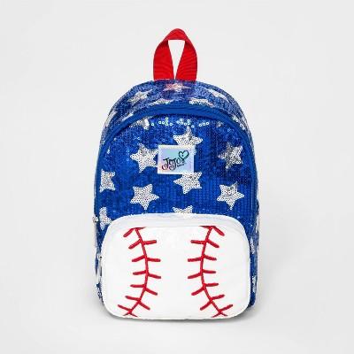 Girls' JoJo Siwa Baseball Backpack - Red/White/Blue