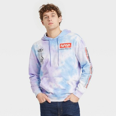 Men's NASA Space Hooded Sweatshirt - Purple/Blue