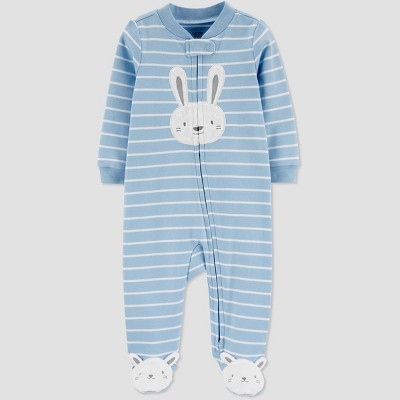 Baby Boys' Bunny Stripe Sleep N' Play - Just One You® made by carter's Sky Blue Newborn