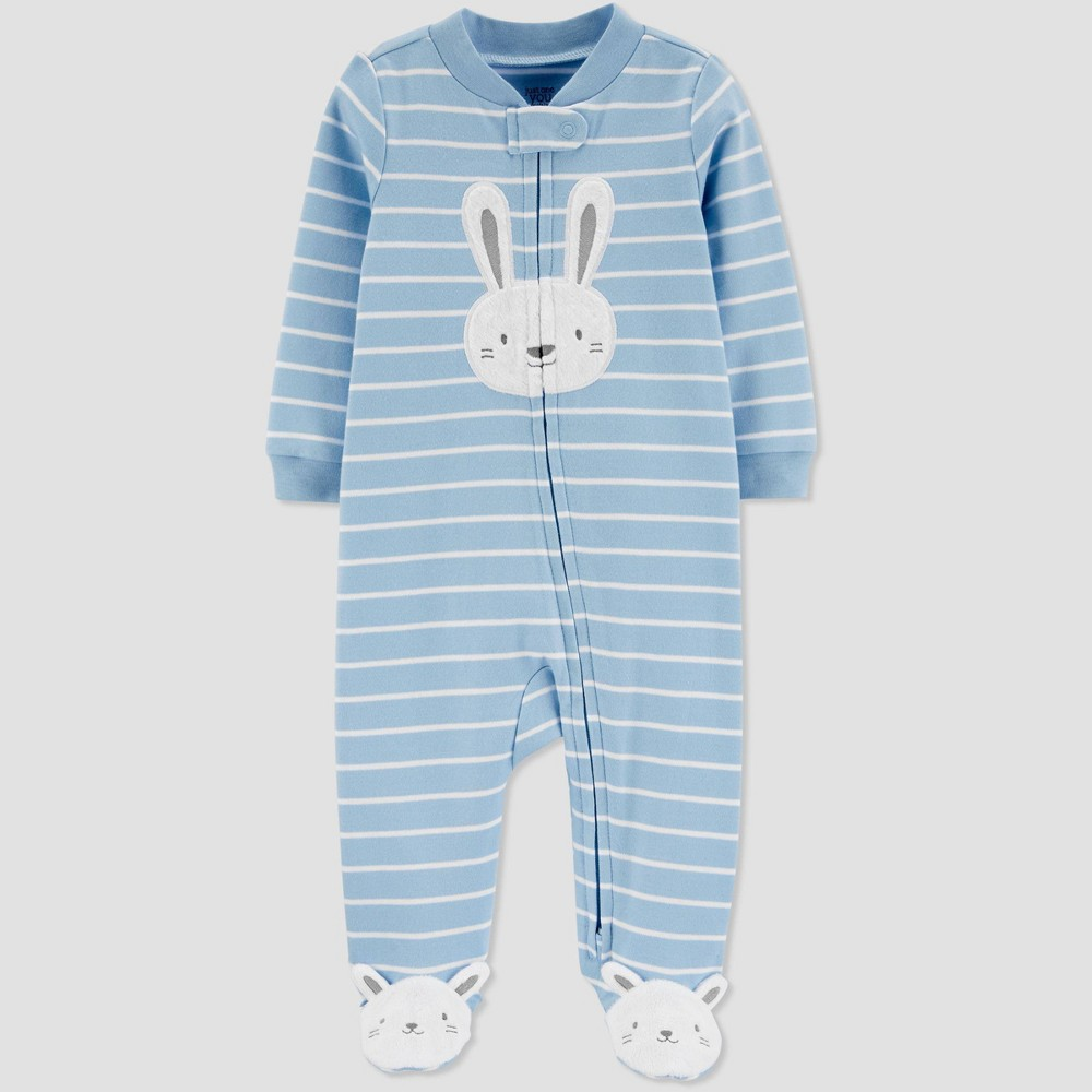 Image of Baby Boys' Bunny Stripe Sleep N' Play - Just One You made by carter's Sky Blue 3M, Boy's