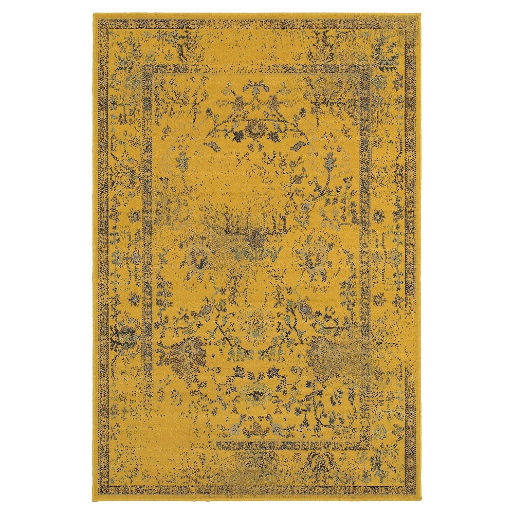 10'X13' Shapes Area Rug Yellow