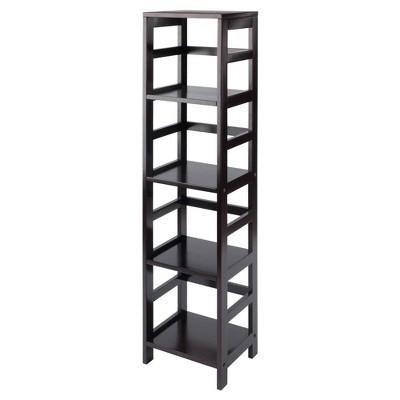 """55"""" 4 Section Narrow Bookshelf Espresso - Winsome"""