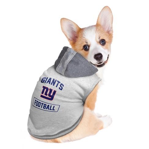 0fc37844e50 New York Giants Little Earth Pet Hooded Crewneck Football Shirt ...
