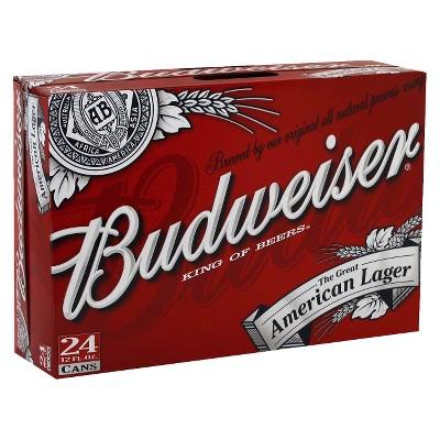 Budweiser® Red Crown Tab Beer - 24pk / 12 fl oz Cans