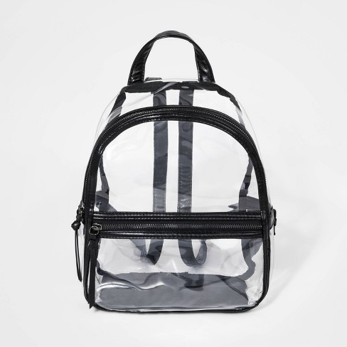 Girls' Clear Backpack with Trim - art class™ Black - image 1 of 2