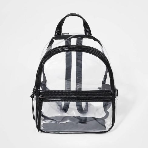 f22b7eb1cdc5 Girls' Clear Backpack with Trim - art class™ Black