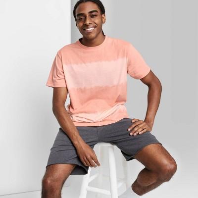 Men's Rolled Collar Knit T-Shirt - Original Use™ Pink