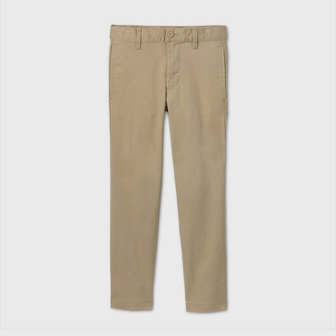 Boys' Flat Front Stretch Uniform Straight Fit Pants - Cat & Jack™ - image 1 of 3