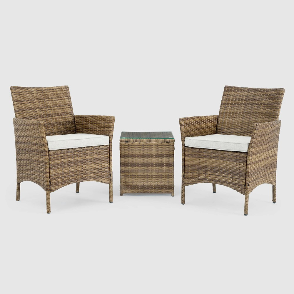 Silva 3pc Patio Seating Set - Brown - Sego Lily