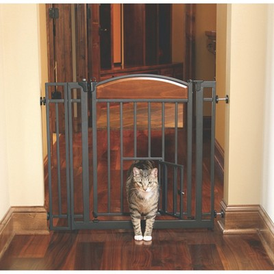 Carlson Design StudioDog & Cat or Baby Gate - Medium - Cherry/Black