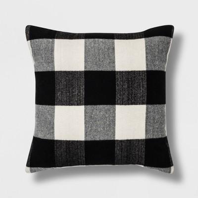 Check Square Throw Pillow Black/White - Threshold™