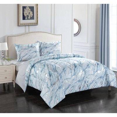 Silver Marble Comforter Set Blue - Heritage Club