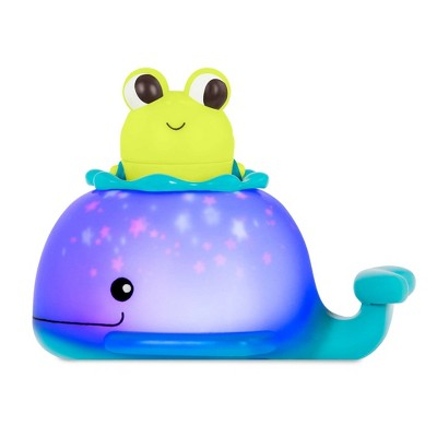 Land of B. Frog & Whale Bath Toy Set - Glow & Splash