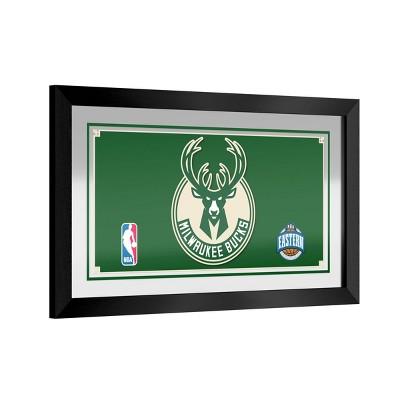 NBA Milwaukee Bucks Team Logo Wall Mirror