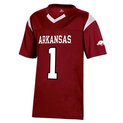 NCAA Arkansas Razorbacks Boys' Short Sleeve Jersey