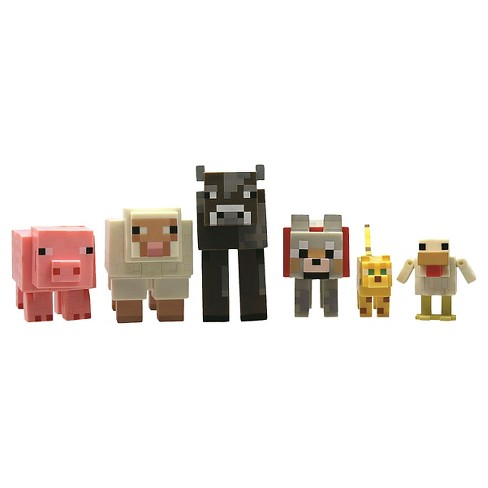 Minecraft Animal Action Figure 6-Pack - image 1 of 2