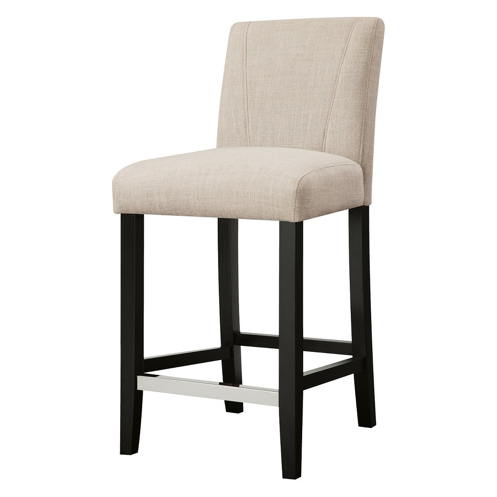 24.5 Private Reserves Set of 2 Counter Height Stool Cream (Ivory)