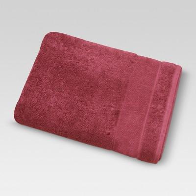 Ultra Soft Bath Towel Wave Dark Red - Threshold™