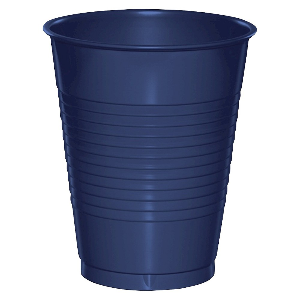 20ct Navy Blue Disposable Cups