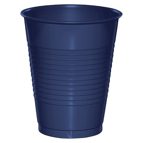 20ct Navy Blue Disposable Cups - image 1 of 3