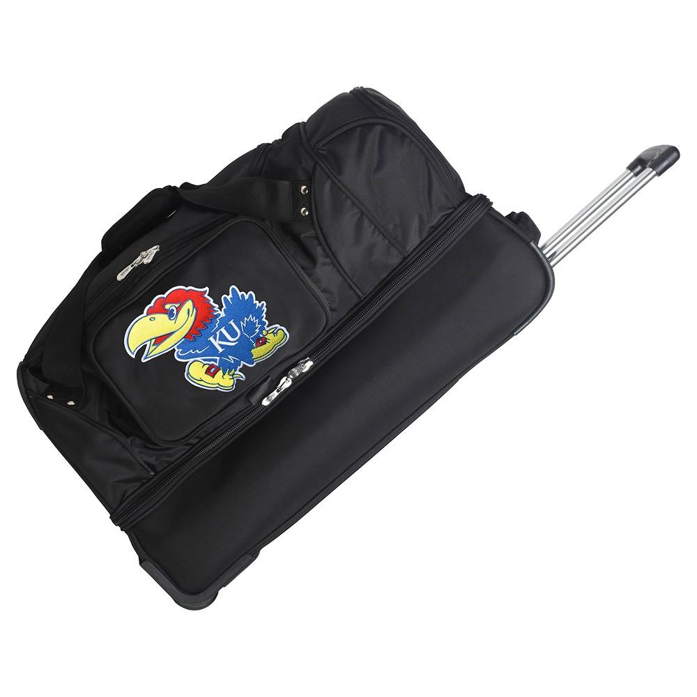 NCAA Kansas Jayhawks 27'' Rolling Drop Bottom Duffel Bag