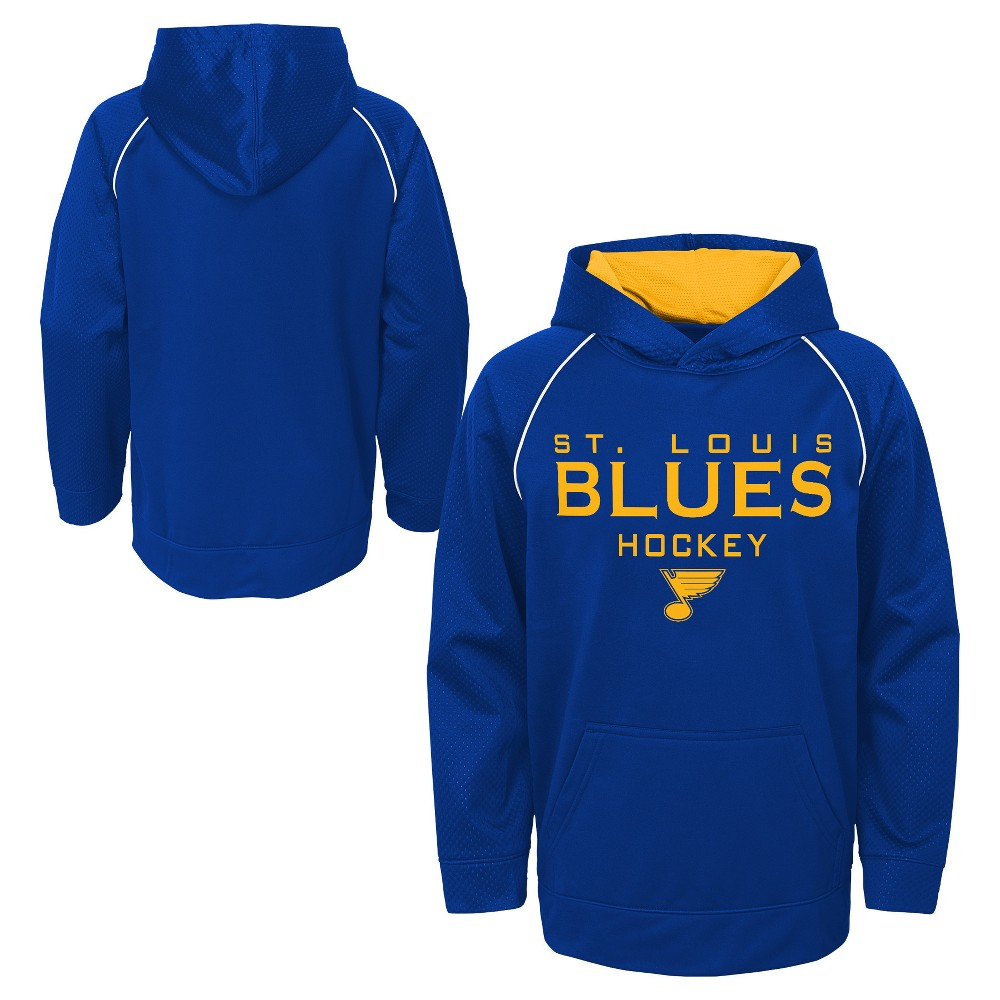 St. Louis Blues Boys' Shorthand Poly Embossed Hoodie XL, Multicolored
