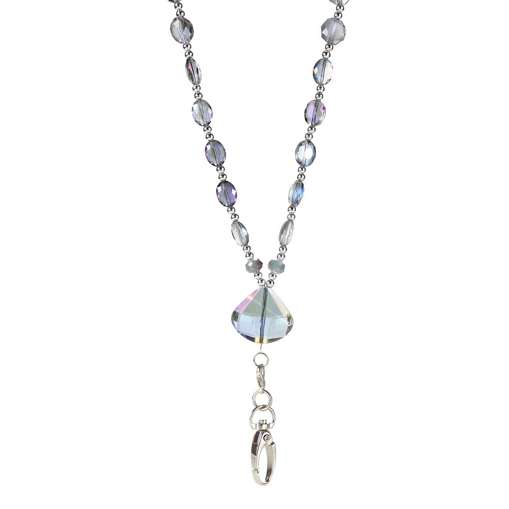 Image of BooJee Beaded Lanyard Aurora, Size: Large, Silver