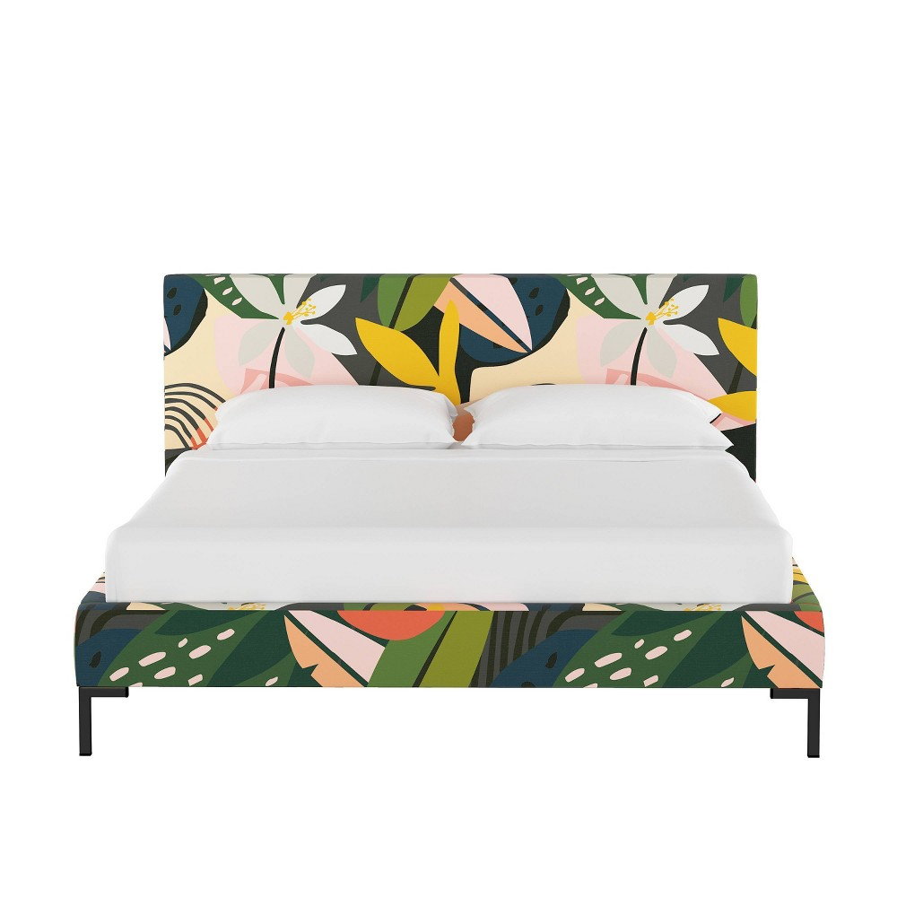 California King Platform Bed in Ibiza - Cloth & Co., Multicolored