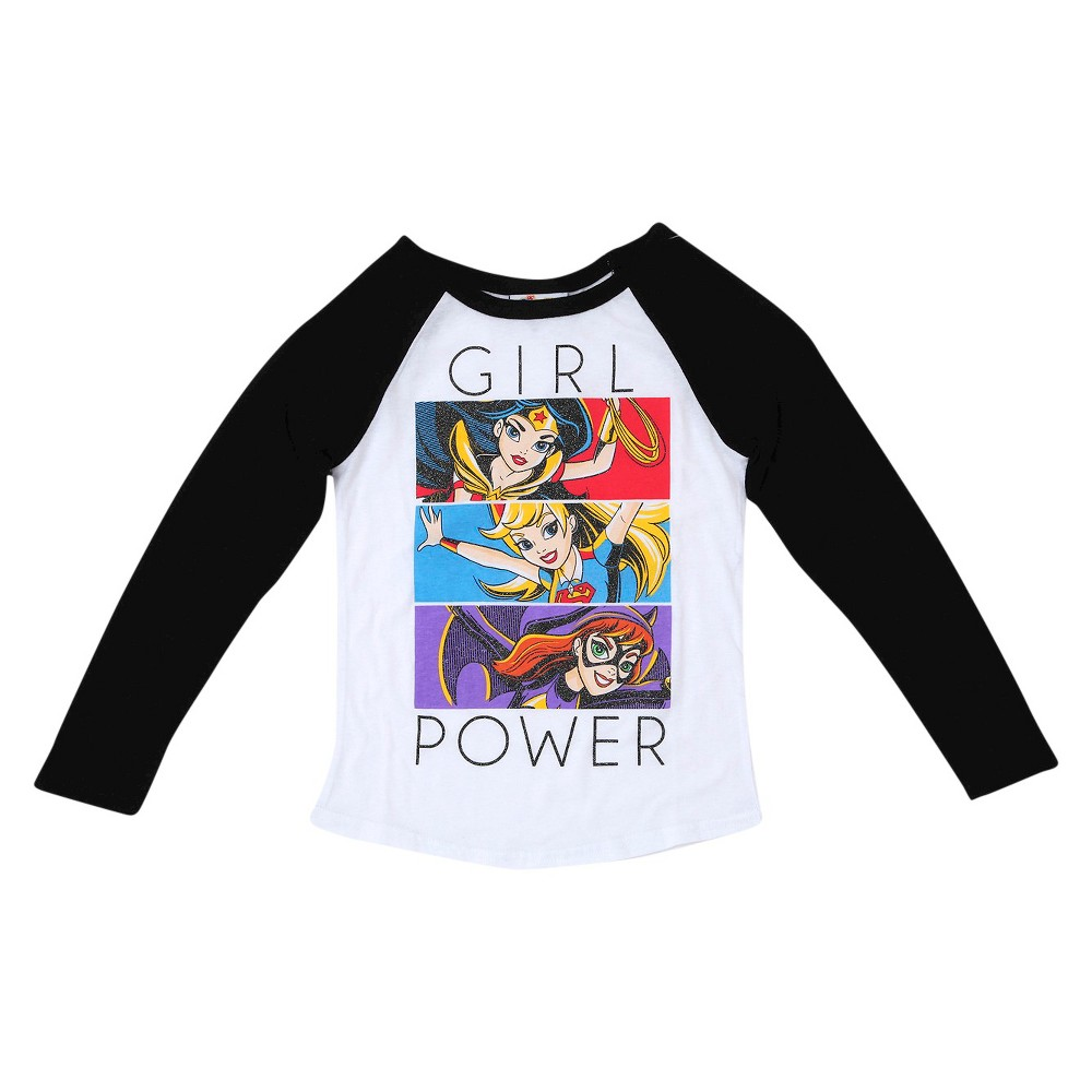 Plus Size Girls' DC Superhero Long Sleeve T-Shirt White XL Plus, Size: Xxl Plus