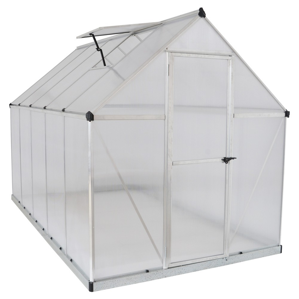Image of 6'X10' Mythos Greenhouse - Silver - Palram
