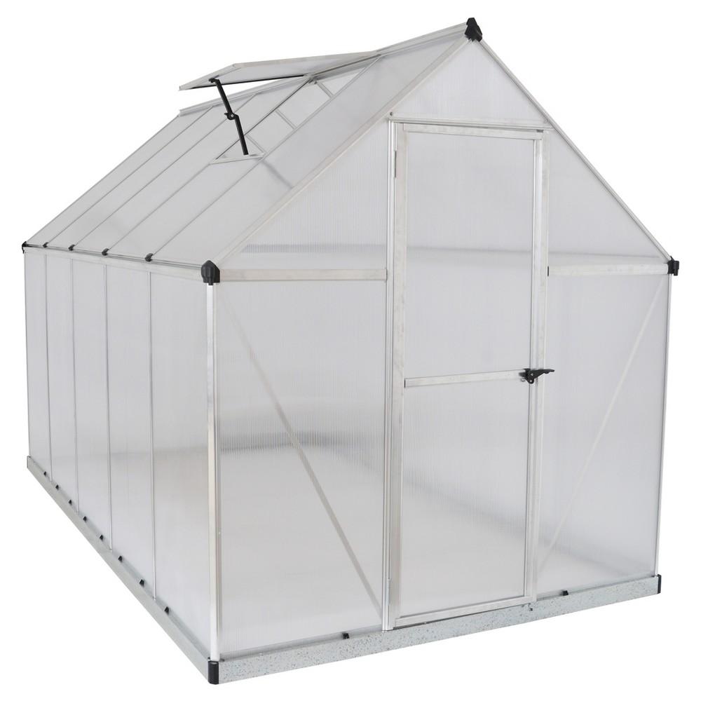 6'X10' Mythos Greenhouse - Silver - Palram