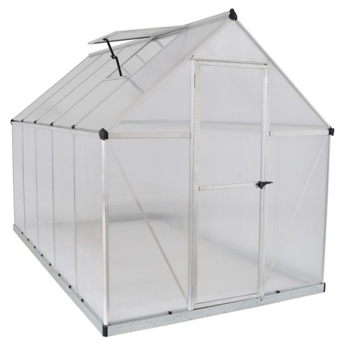 6'X10' Mythos Greenhouse - Silver - Palram - image 1 of 7