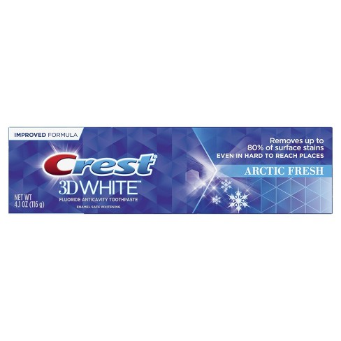 Crest 3D White Arctic Fresh Whitening Toothpaste Icy Cool Mint - 4.1oz - image 1 of 4