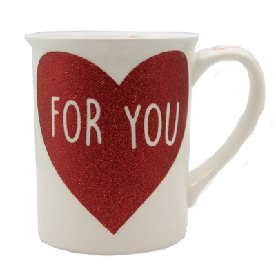 """Tabletop 4.5"""" For Your Glitter Mug You Are My Heart Enesco  -  Drinkware"""