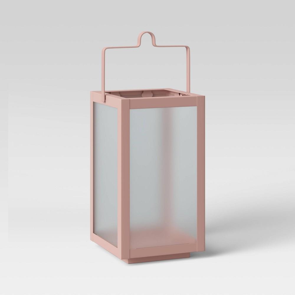 10 34 Rectangular Pillar Outdoor Lantern Candle Holder Peach Room Essentials 8482