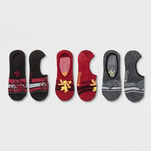 Women's 3pk Peds Game of Thrones Casual Socks - 4-10 - image 1 of 2