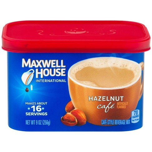 Maxwell House International Hazelnut Cafe Light Roast Coffee 9oz Tub