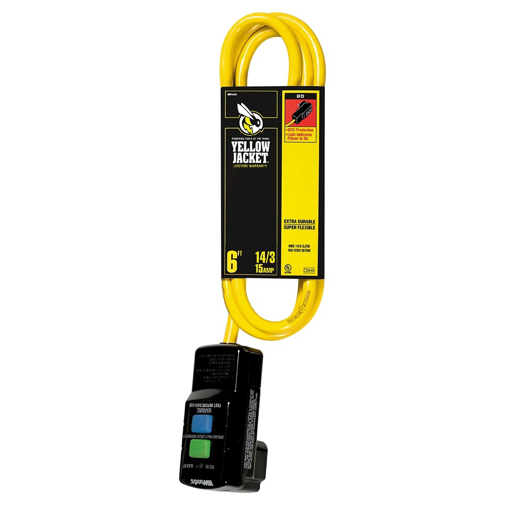 1.5x3x12 Yellow Jacket Extension Cord