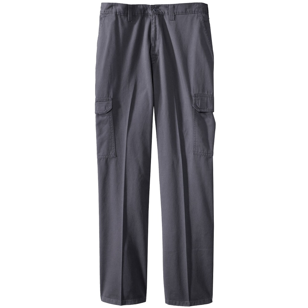 Image of Dickies Men's Big & Tall Loose Straight Fit Cotton Cargo Work Pants - Charcoal 44x32, Men's, Grey
