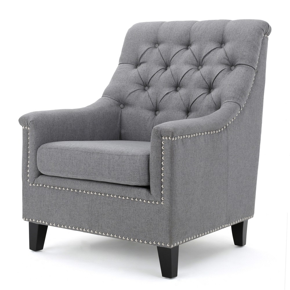 Jaclyn Tufted Club Chair - Gray - Christopher Knight Home