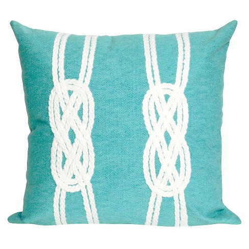 "Aqua In/Out Throw Pillow (20""x20"") - Liora Manne - image 1 of 1"