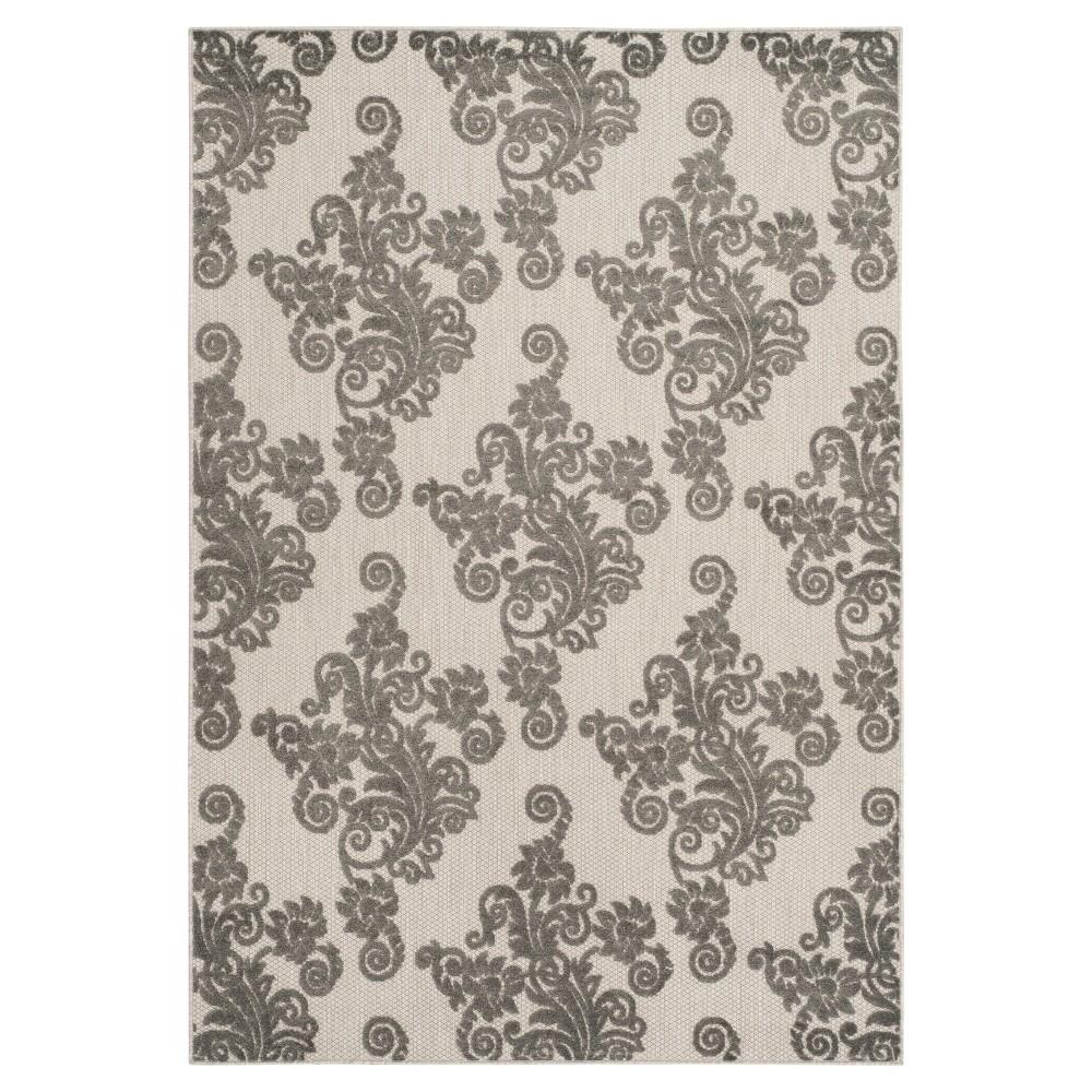 Everard 4'x6' Indoor/Outdoor Rug - Cream/Gray (Ivory/Gray) - Safavieh