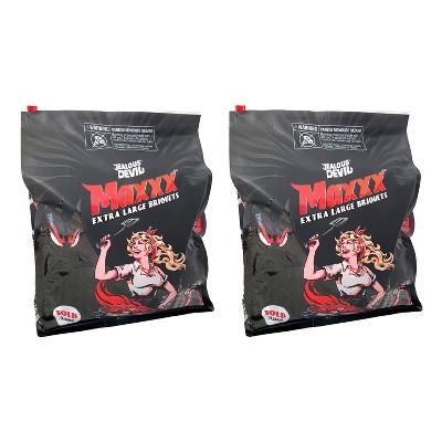 Jealous Devil XL All Natural Hardwood Charcoal Pillow Briquets 10 Pound (2 Pack)