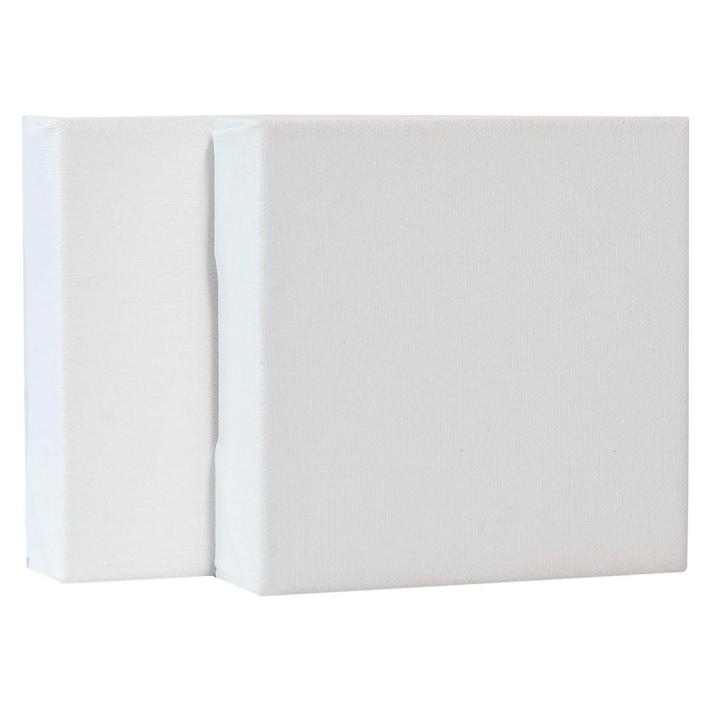 Fredrix Gallerywrap Stretched Canvas 5 X 5 34 2 Pk