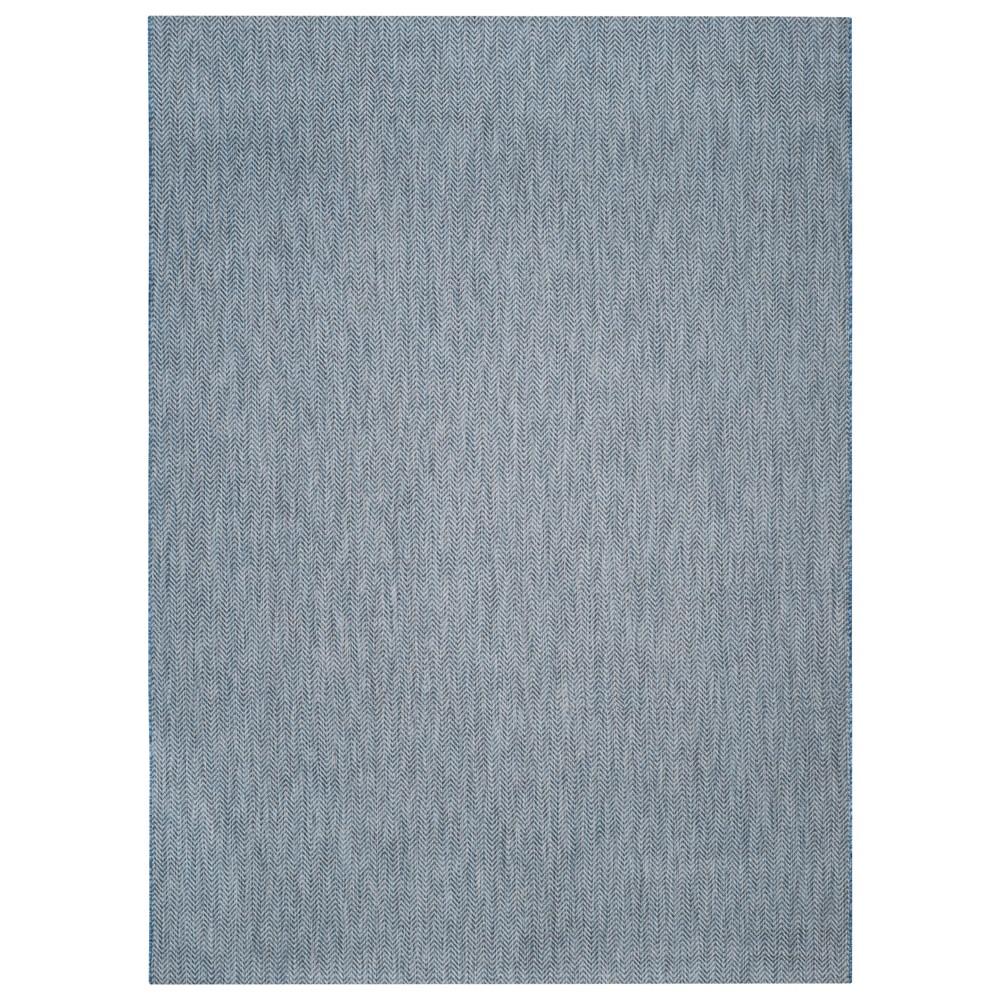 Positano Rectangle 8'X11' Outdoor Patio Rug - Navy / Gray - Safavieh, Blue