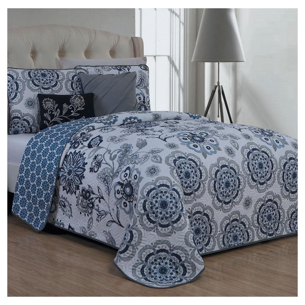 Blue Cobie Quilt Set (Queen) 5pc