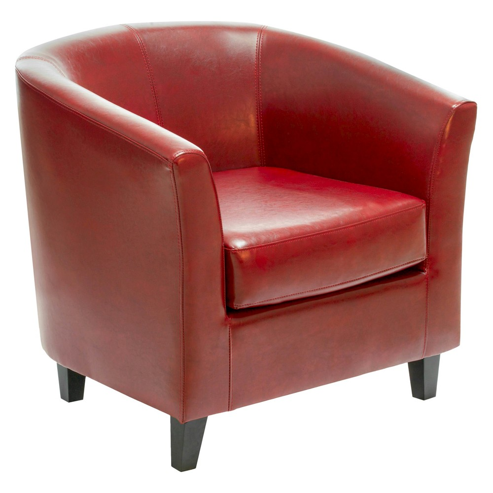 Preston Club Chair Oxblood Red - Christopher Knight Home, Ox Blood
