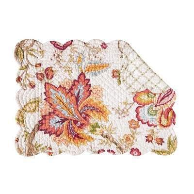 C&F Home Bethany Cotton Quilted Rectangular Reversible Placemat Set of 6