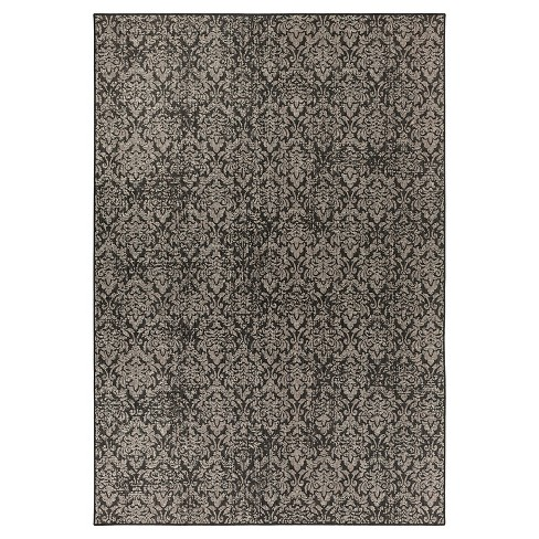 Surya Zelko Outdoor Rug - Charcoal - image 1 of 2