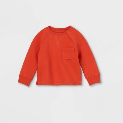 Baby Knit Pullover Sweatshirt - Cat & Jack™ Orange Newborn